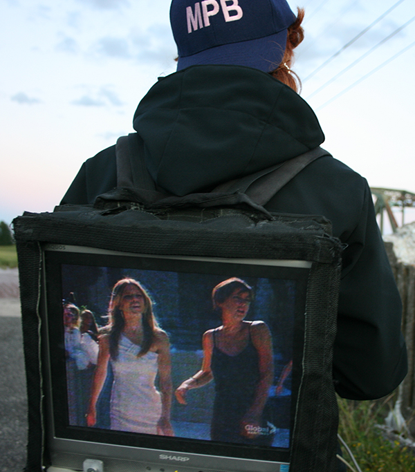 MPB End of Signal (2011), television reception of analogue signal at the end of Bridge St., Sackville, NB.